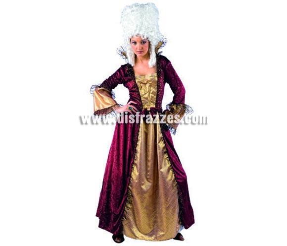 Disfraz de Dama de Época Deluxe para mujer. Alta calidad, hecho en España. Disponible en varias tallas. Incluye vestido. Peluca NO incluida, podrás encontrar pelucas en la sección de Complementos.