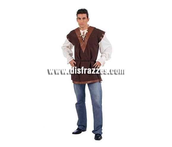 Camisa con Chaleco Medieval Deluxe para hombre. Alta calidad, hecho en España. Disponible en varias tallas. Incluye camisa con chaleco. Pantalón NO incluido.
