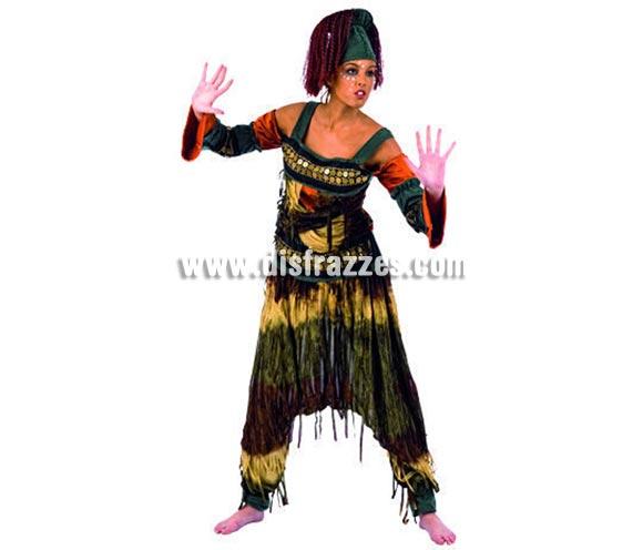 Disfraz de Continente África Deluxe para mujer. Alta calidad, hecho en España. Disponible en varias tallas. Incluye camisa, pantalón y gorro con pelo.