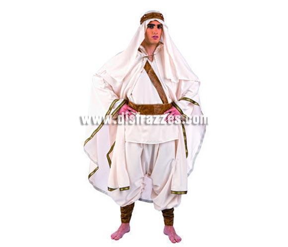 Disfraz de Lawrence de Arabia deluxe para hombre. Alta calidad, hecho en España. Disponible en varias tallas. Incluye camisa,  capa, pantalón, cinturón, turbante y cinta.
