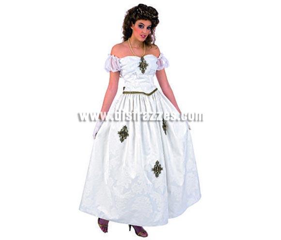 Disfraz de Emperatriz Sissi Deluxe para mujer. Alta  calidad, hecho en España. Disponible en varias tallas. Incluye corpiño y falda. Gargantilla NO incluida.