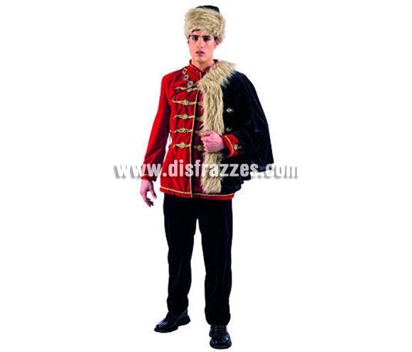 Disfraz de Emperador Húngaro Deluxe para hombre. Alta calidad, hecho en España. Disponible en varias tallas. Incluye chaqueta, capa, pantalón y gorro.