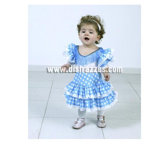 Disfraz de Flamenca Azul para Bebés de 1-2 años. Incluye vestido.