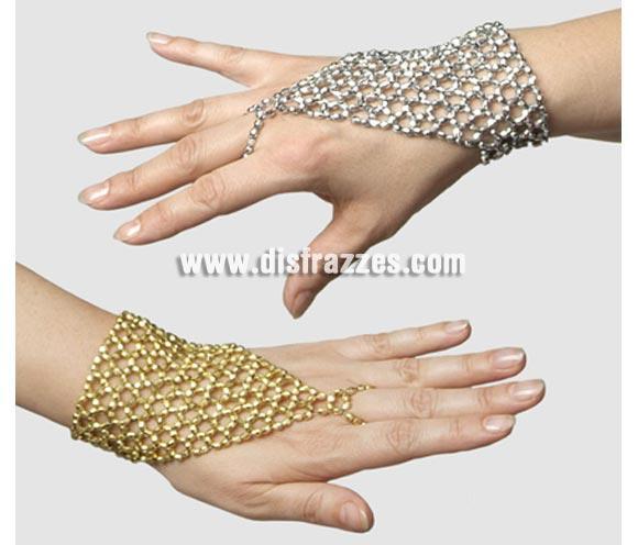 Mitón piedras de color plata. ¡¡Compra tu complemento para el disfraz de Carnaval en nuestra tienda de disfraces, será divertido!!