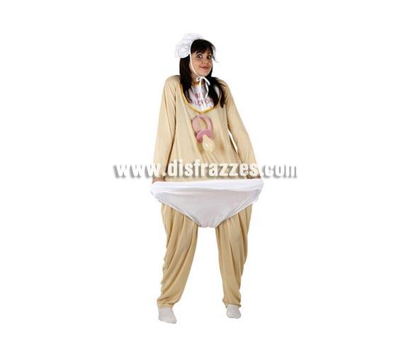 Disfraz de Bebé Glotón para mujer. Incluye traje y gorrito. Chupete NO incluido, podrás encontrar chupetes en la sección de Complementos. Talla standar 38/42. Éste disfraz es perfecto para Despedidas de Soltera, si queréis que la Novia llame la atención...
