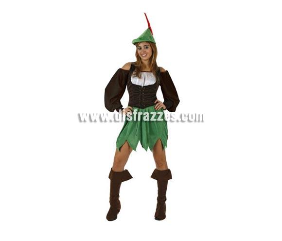 Disfraz de Mujer de los Bosques para adulta. Talla Standar M-L = 38/42.Incluye vestido, cubrebotas, y gorro.