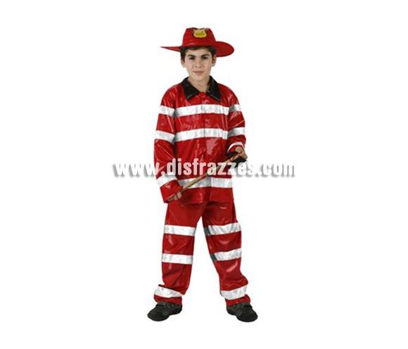 Disfraz de Bombero para niños de 5-6 años. Incluye chaqueta, pantalón y gorro. Hacha NO incluida, podrás encontrar hachas en la sección de Complementos.