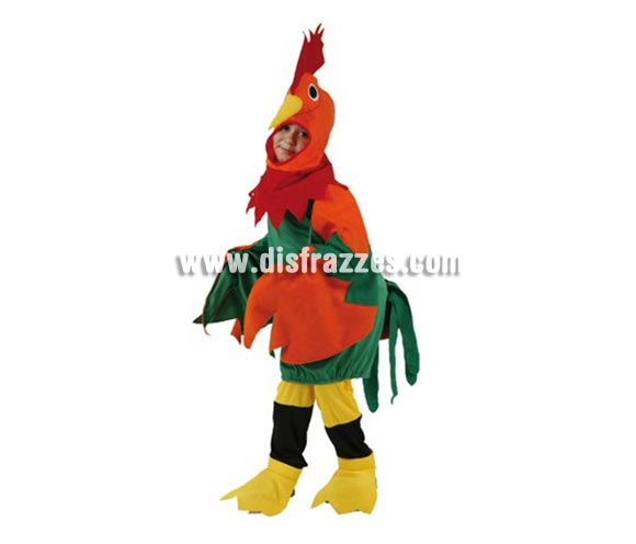 Disfraz de Gallo para niños de 5-6 años. Incluye disfraz completo.