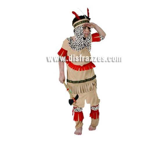 Disfraz de Indio Piel Roja para niños de 10-12 años. Incluye camisa, pantalón y tocado. Hacha NO incluida, podrás encontrar hachas en la sección de Complementos.