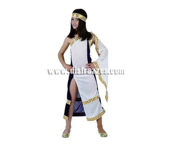 Disfraz de Princesa Romana para niñas de 3-4 años. Incluye vestido y tocado.