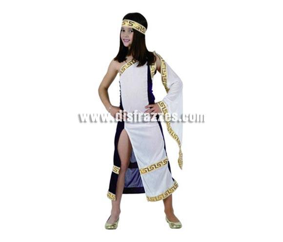 Disfraz de Princesa Romana para niñas de 5-6 años. Incluye vestido y tocado.