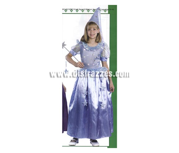 Disfraz de Hada para niñas de 4-6 años. Incluye vestido y gorro. Varita NO incluida, podrás encontrar varitas en la sección de Complementos.
