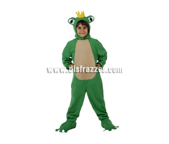 Disfraz de Rana para niños de 5-6 años. Incluye disfraz completo.