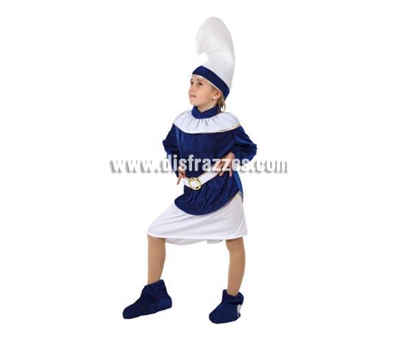 Disfraz de Enana Azul para niñas de 7-9 años. Incluye disfraz completo. Para jugar a los Pitufos.