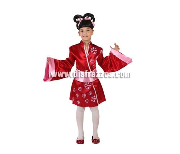 Disfraz de Kimono Corto Japonesa para niñas de 5-6 años. Incluye disfraz.