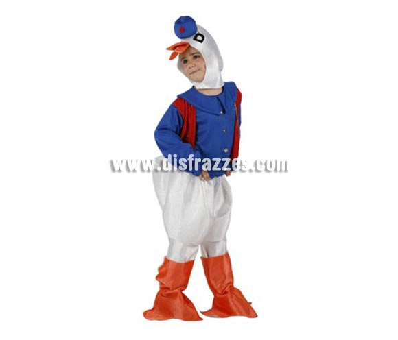 Disfraz de Patito para niños de 3-4 años. Incluye disfraz completo.