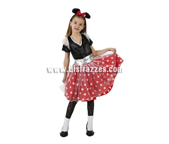 Disfraz barato de Ratoncita Lunares para niñas 7 a 9 años