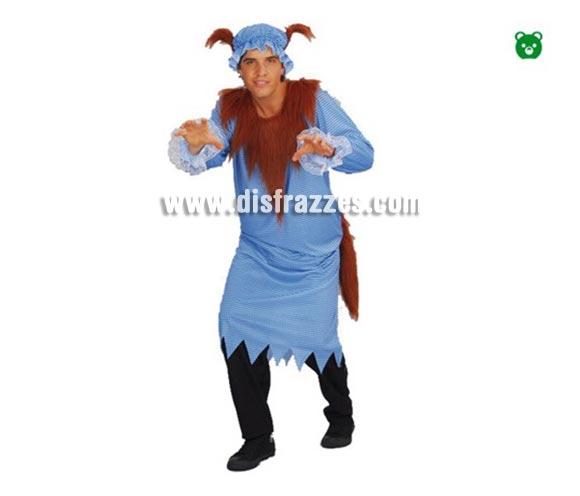 Disfraz de Lobo Feroz para hombre. Incluye traje y gorro.