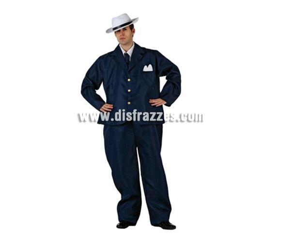 Disfraz de Mafioso Gordinflon para hombre. Incluye traje completo. Sombrero NO incluido, podrás encontrar en la sección de Complementos.