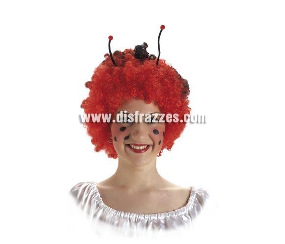 Peluca Mariquita con antenas.