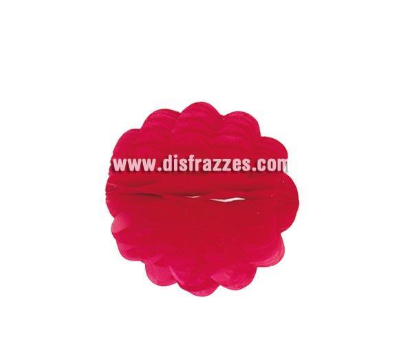 Farolillo Bola de Papel de color rojo para decoración de Fiestas de 25 cm.