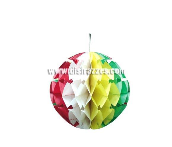 Farolillo Bola de Papel Multicolor de 35 cm. ideal para decoración de todo tipo de Fiestas.