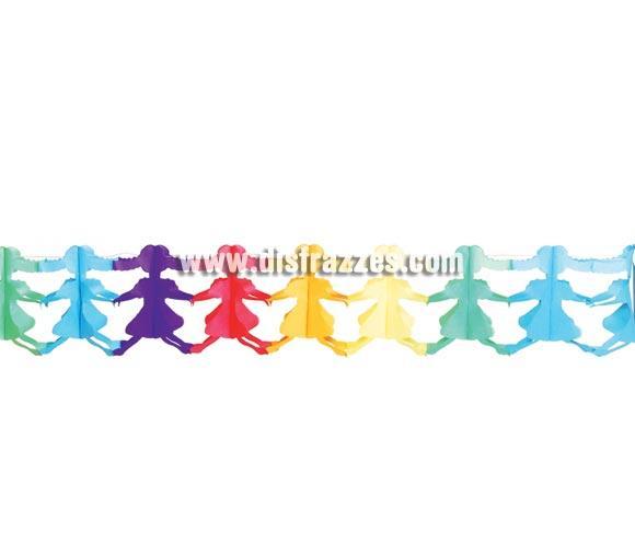 Guirnalda Niñas papel fantasía de 19 x 230 cm. ideal para decorar tus Fiestas.