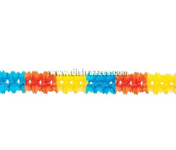 Guirnalda de papel fantasía de 14 x 320 cm. genial para decorar cualquier tipo de Fiesta.