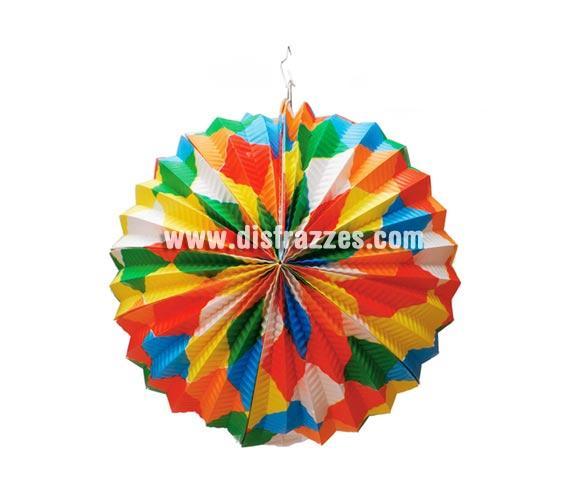 Farolillo esférico de papel decorado fantasía de 26 cm. para decoración de Fiestas.