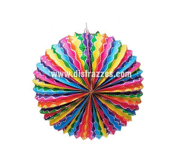 Farolillo de papel fantasía de 35 cm. perfecto para decorar tus Fiestas más importantes.