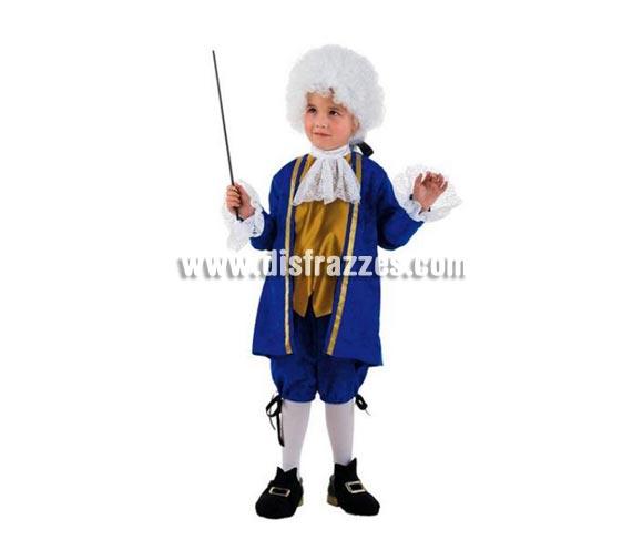 Disfraz de Opera para niños de 9-11 años. Incluye chaqueta, camisa con chorrera, cubrepies y pantalón. Peluca y varita No incluida, podrás encontrar pelucas y varitas en la sección de Complementos. OFERTA LIQUIDACIÓN DE STOCK. Precio Super - rebajado!!!