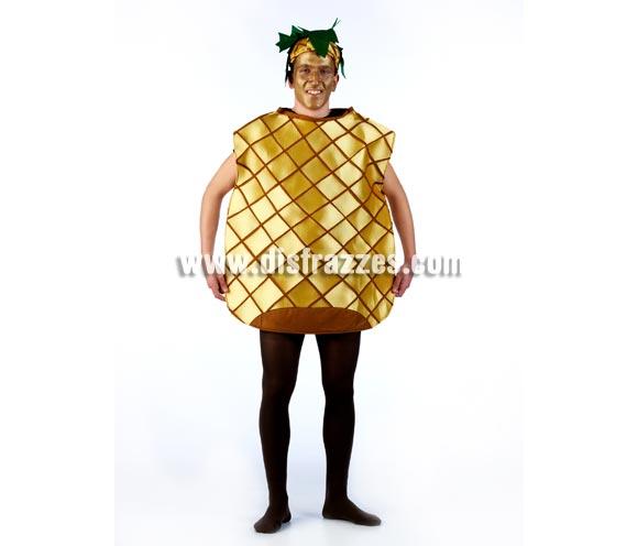 Disfraz de Piña para adultos. Disponible en varias tallas. Incluye gorro y cuerpo del disfraz. Un disfraz muy original y exclusivo ideal para Grupos, Peñas o Comparsas.
