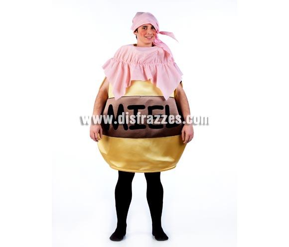 Disfraz de Tarro de Miel para adultos. Talla Universal. Incluye pañuelo de la cabeza y cuerpo del disfraz. Perfecto como disfraz para Peñas, Grupos y Comparsas.