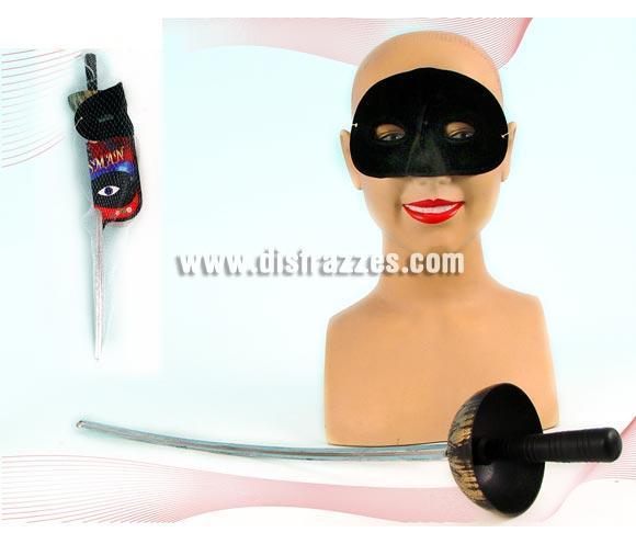 Set de Espada Florete 64cm. y máscara del Zorro.
