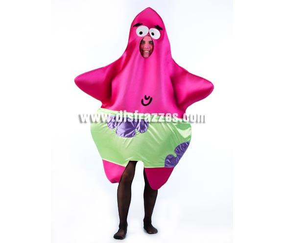 Disfraz de Estrella de Mar para adultos. Incluye disfraz, medias No incluidas. Perfecto para Peñas, Grupos y Comparsas. Con éste disfraz podrás imitar a Patricio, el inseparable amigo de Bob Esponja.
