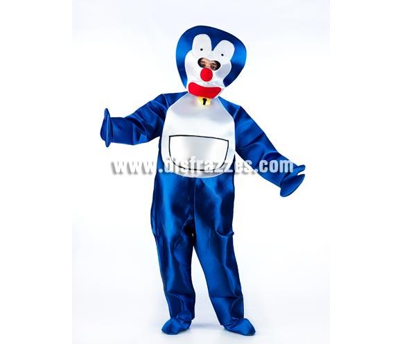 Disfraz de Gato Azul para adultos. Talla Universal adultos. Incluye cabeza, mono, manoplas y cubrepies. Disfraz original y exclusivo como el mejor ideal para Peñas, Grupos y Comparsas.