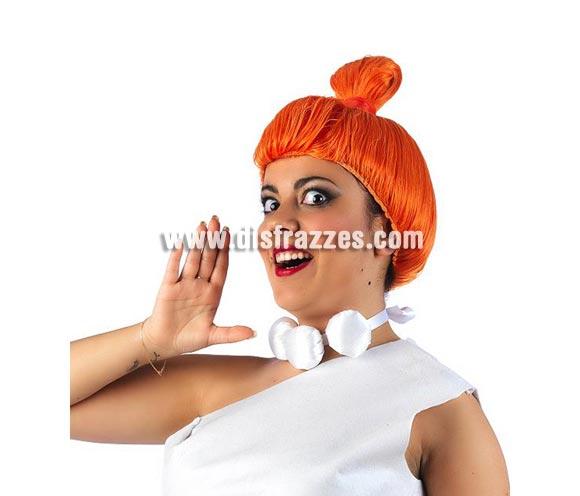 Peluca de Wilma de Los Picapiedra para mujer. Perfecta como complemento del disfraz de Wlima ref. 0399CON.