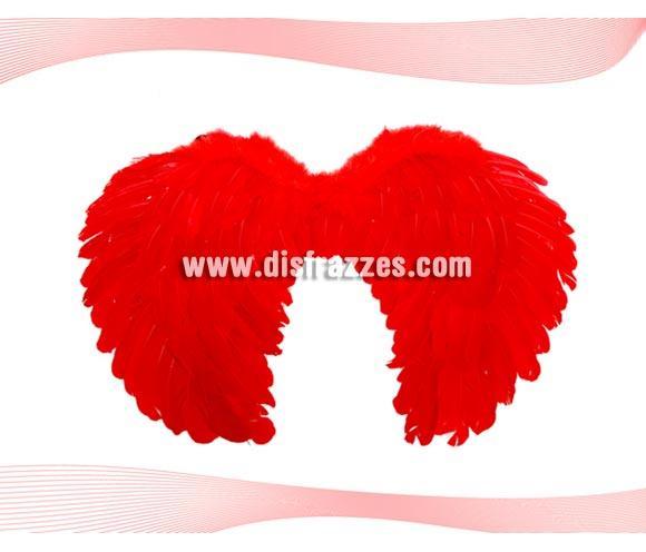 Alas de plumas rojas. Ideal para tu disfraz de Demonio o Diablo o para Despedidas de Soltera.