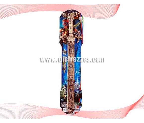 Espada Guerrero del poder con funda dorada de PVC.