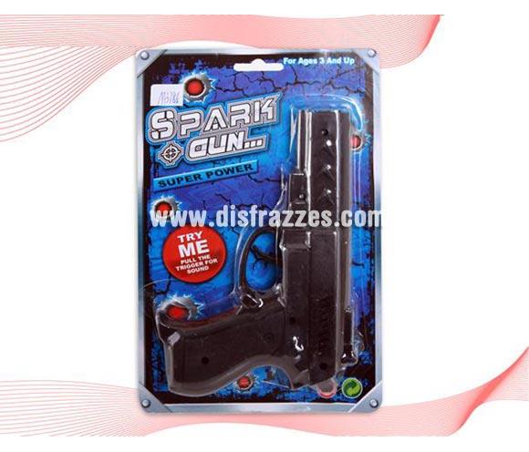 Pistola negra de Policía o Ganster.