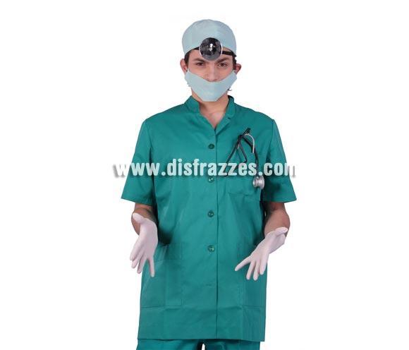Conjunto Doctor compuesto por gorro, mascarilla, estetoscopio y complemento de la cabeza.