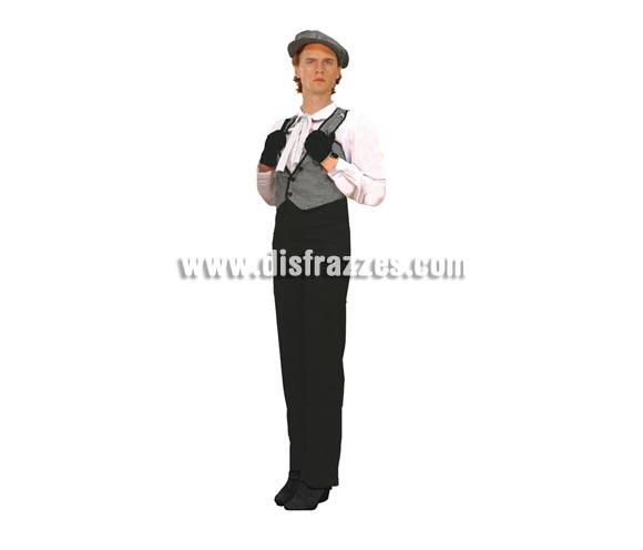 Disfraz de Madrileño o Chulapo para hombre. Talla standar M-L = 52/54. Incluye gorro, camisa, chaleco y pantalón. Prefecto para la Feria de San Isidro.