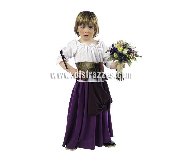Disfraz de Tabernera Medieval Deluxe para niñas. Alta calidad, hecho en España. Disponible en varias tallas. Incluye vestido, camisa y corpiño. Ramo NO incluido.