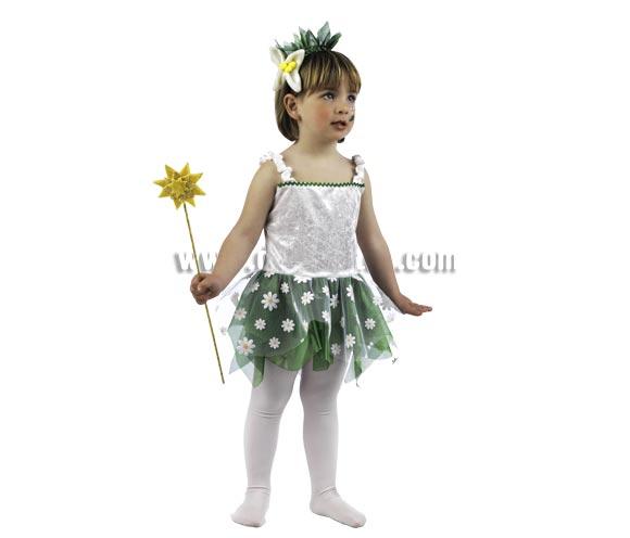 Disfraz de Ninfa del Bosque Deluxe para niña. Alta calidad, hecho en España. Disponible en varias tallas. Incluye vestido y diadema. Varita NO incluida, podrás encontrarla en nuestra sección de Complementos.