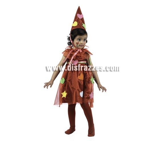 Disfraz de Hada Parchis Deluxe para niña. Alta calidad, hecho en España. Disponible en varias tallas. Incluye vestido, gorro y golilla.