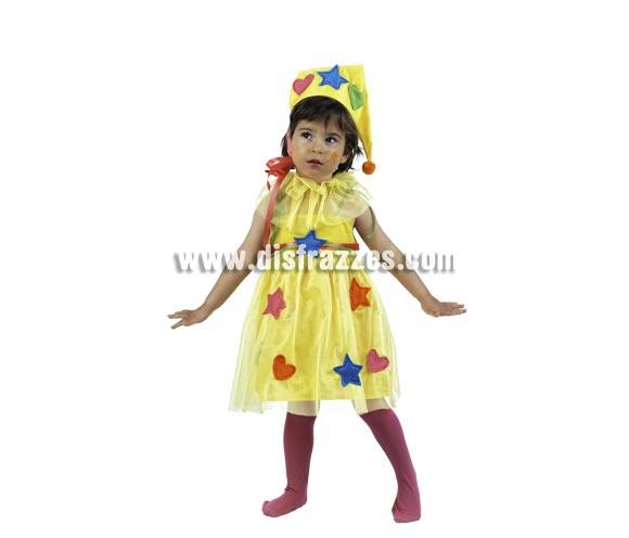 Disfraz de Ninfa Parchis Deluxe para niña. Alta calidad, hecho en España. Disponible en varias tallas. Incluye vestido, gorro y golilla.