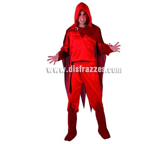 Disfraz de Demonio o Diablo para hombre. Talla 2 (Standar M-L = 52/54). Incluye traje completo.