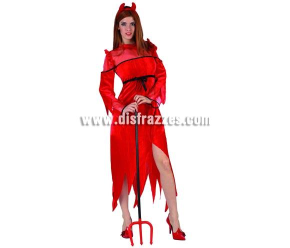 Disfraz de Demonia o Diablesa para mujer. Talla Standar M-L = 38/42. Accesorios NO incluidos.