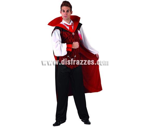 Disfraz de Vampiro para hombre. Talla 3 XL = 54/58. Incluye traje completo. Serie Gold.