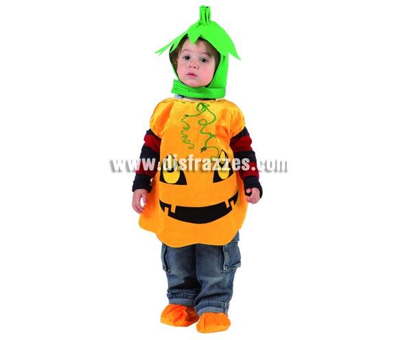 Disfraz super barato para Halloween de Calabaza.  Talla para niños de 12 a 24 meses. Incluye vestido, gorro y cubrepies.
